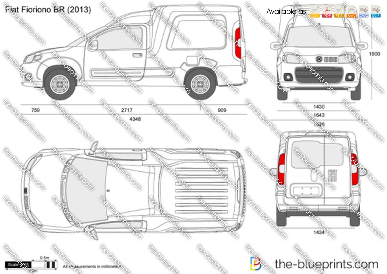 Fiat Fiorino BR vector drawing