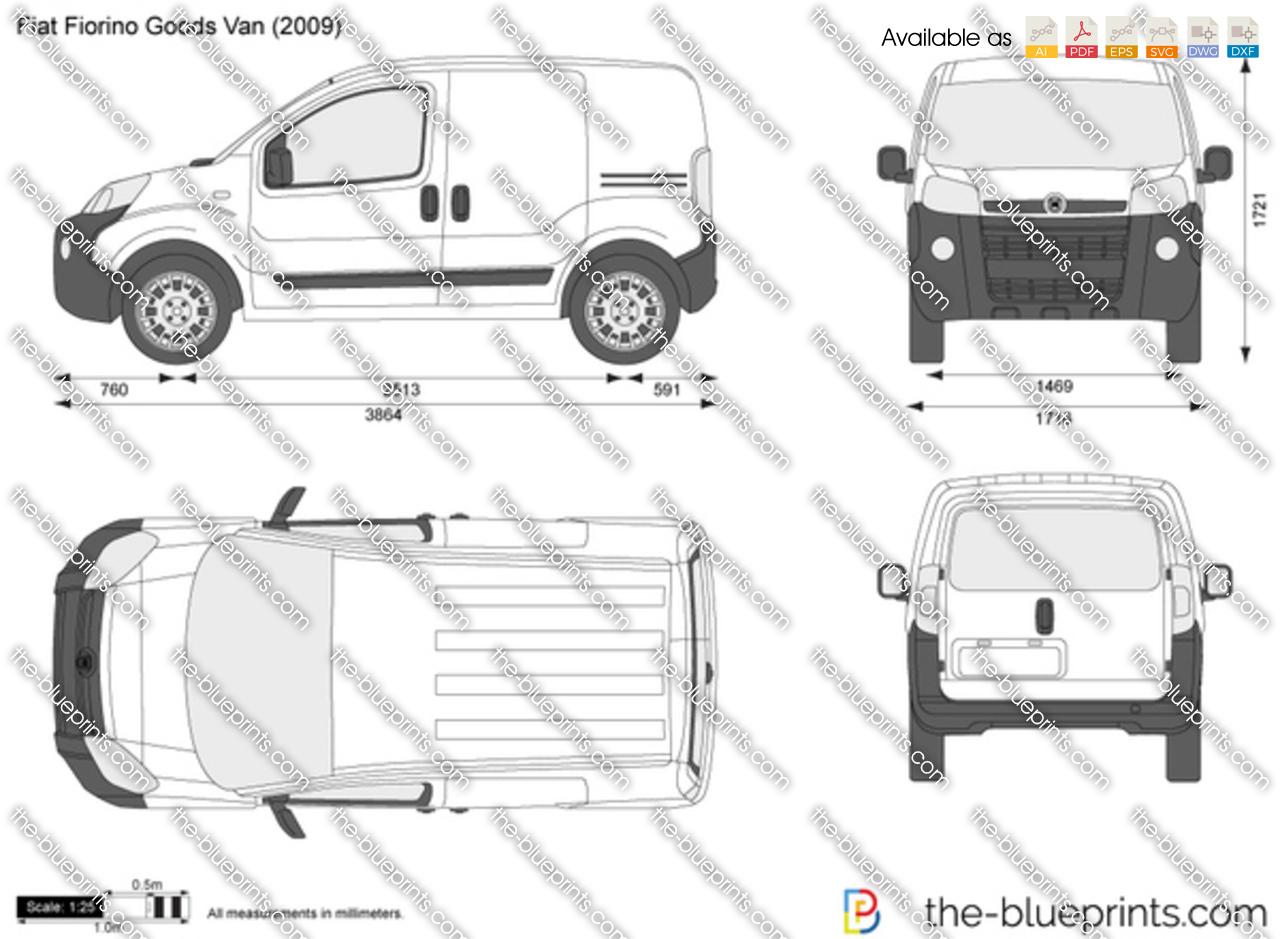 Fiat Fiorino Goods Van vector drawing