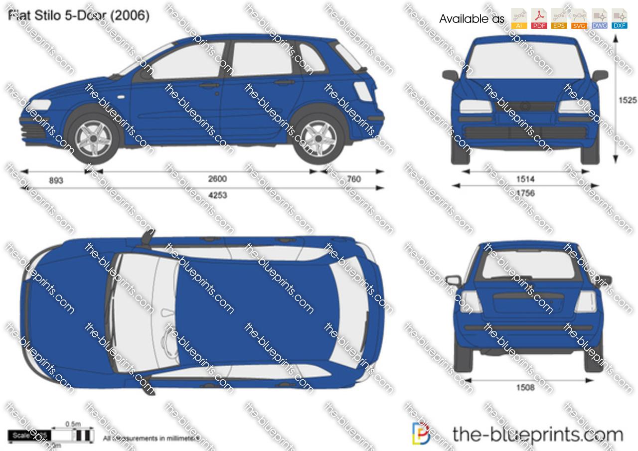 Fiat Stilo 5-Door vector drawing