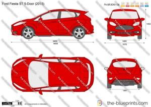 Ford Fiesta ST 5Door vector drawing