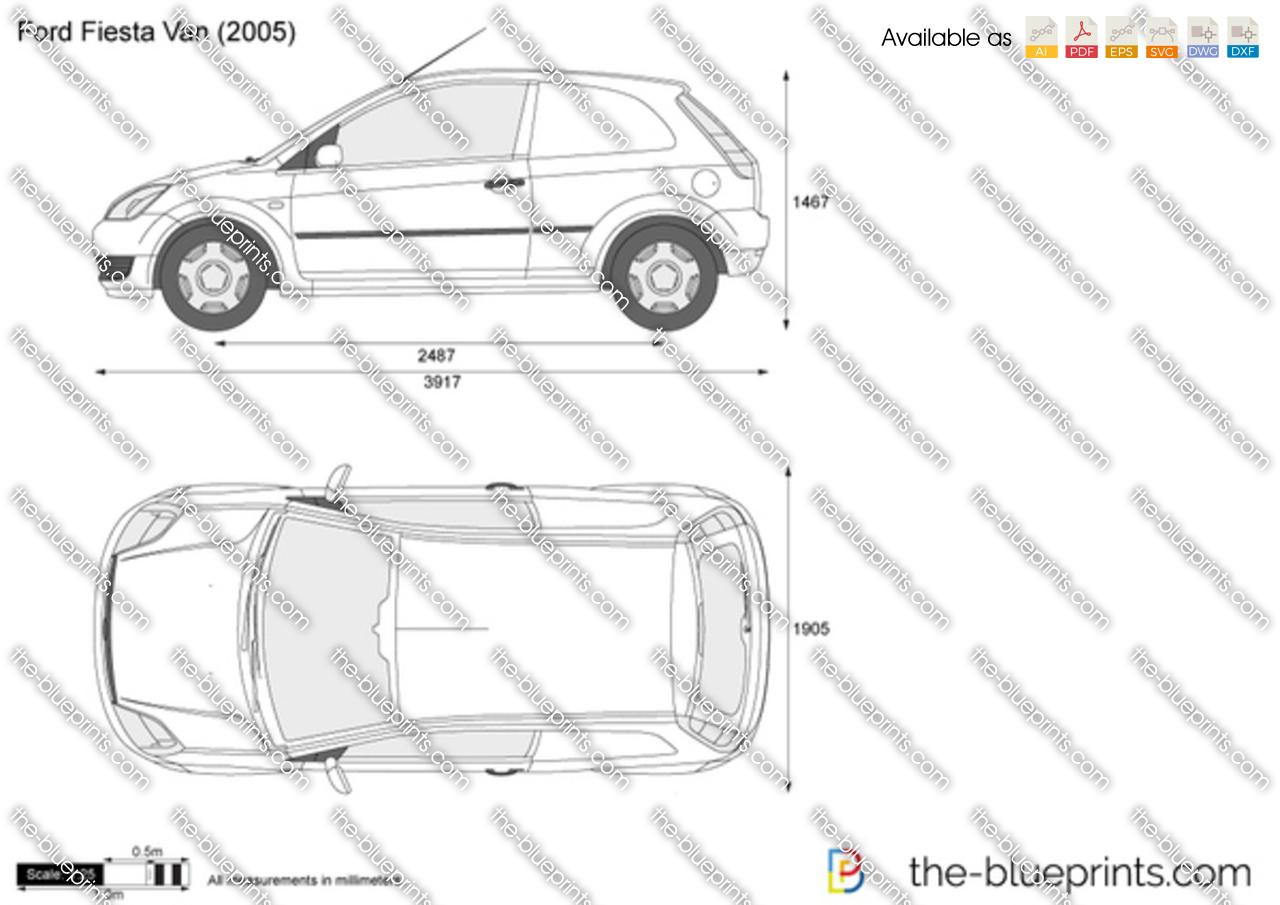 Ford Fiesta Van vector drawing
