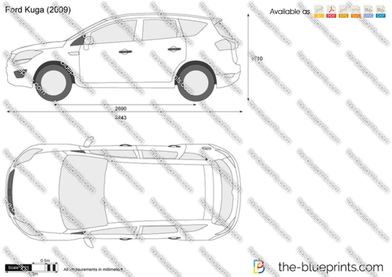 Ford Kuga vector drawing