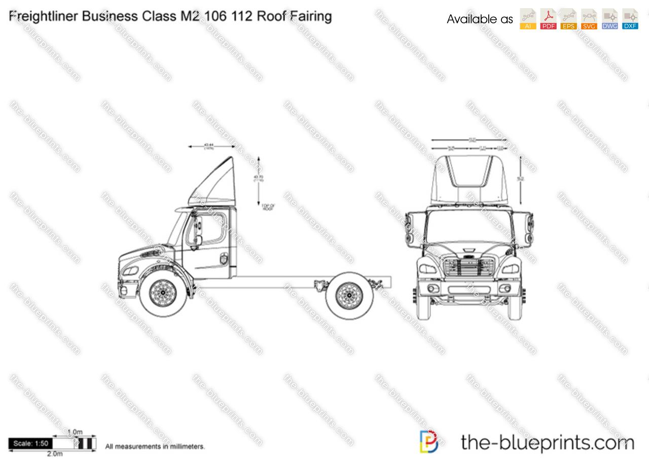 Freightliner Business Class M2 106 112 Roof Fairing Vector
