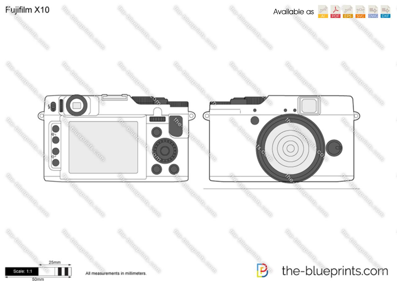 Fujifilm X10 vector drawing
