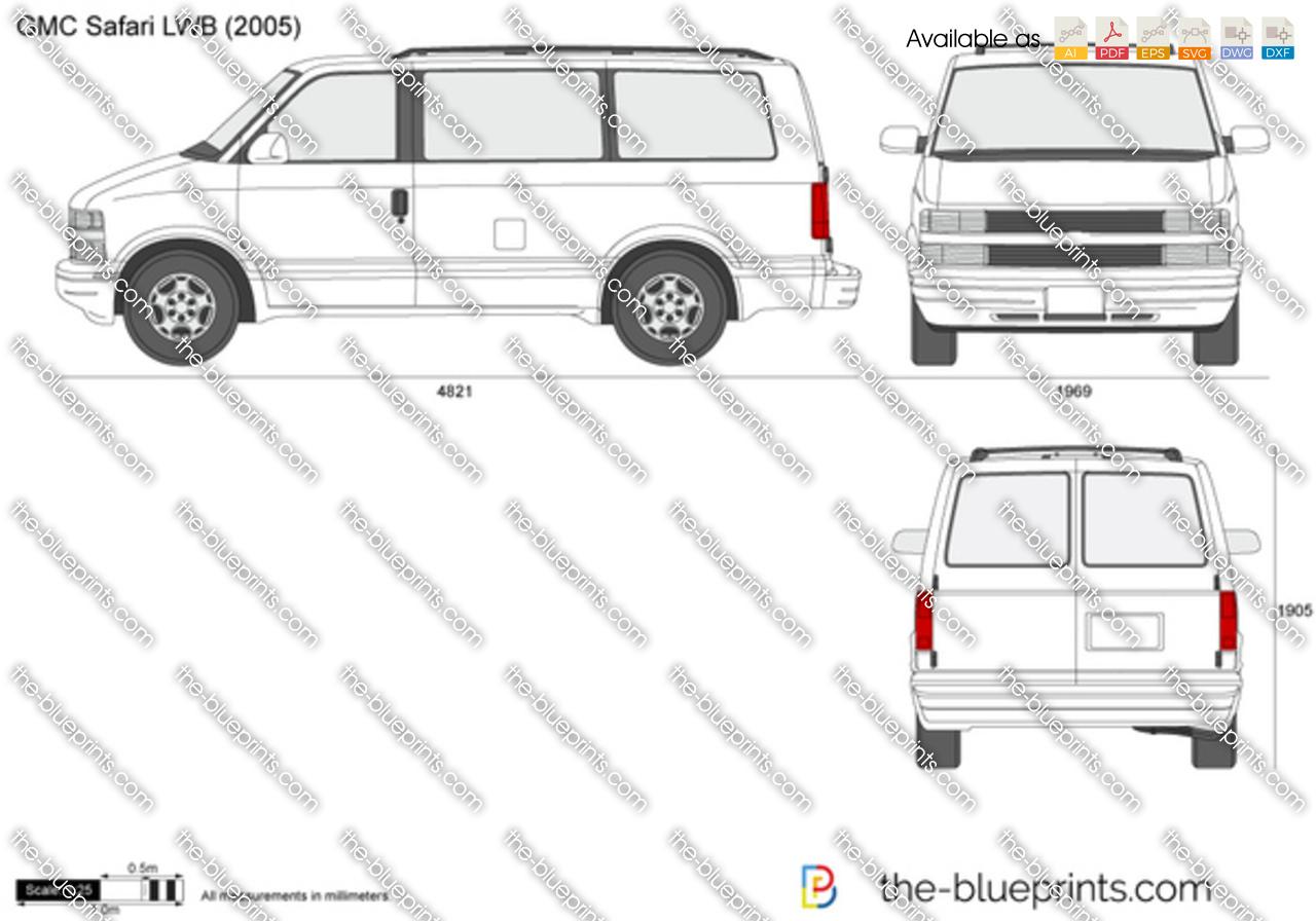 GMC Safari LWB vector drawing