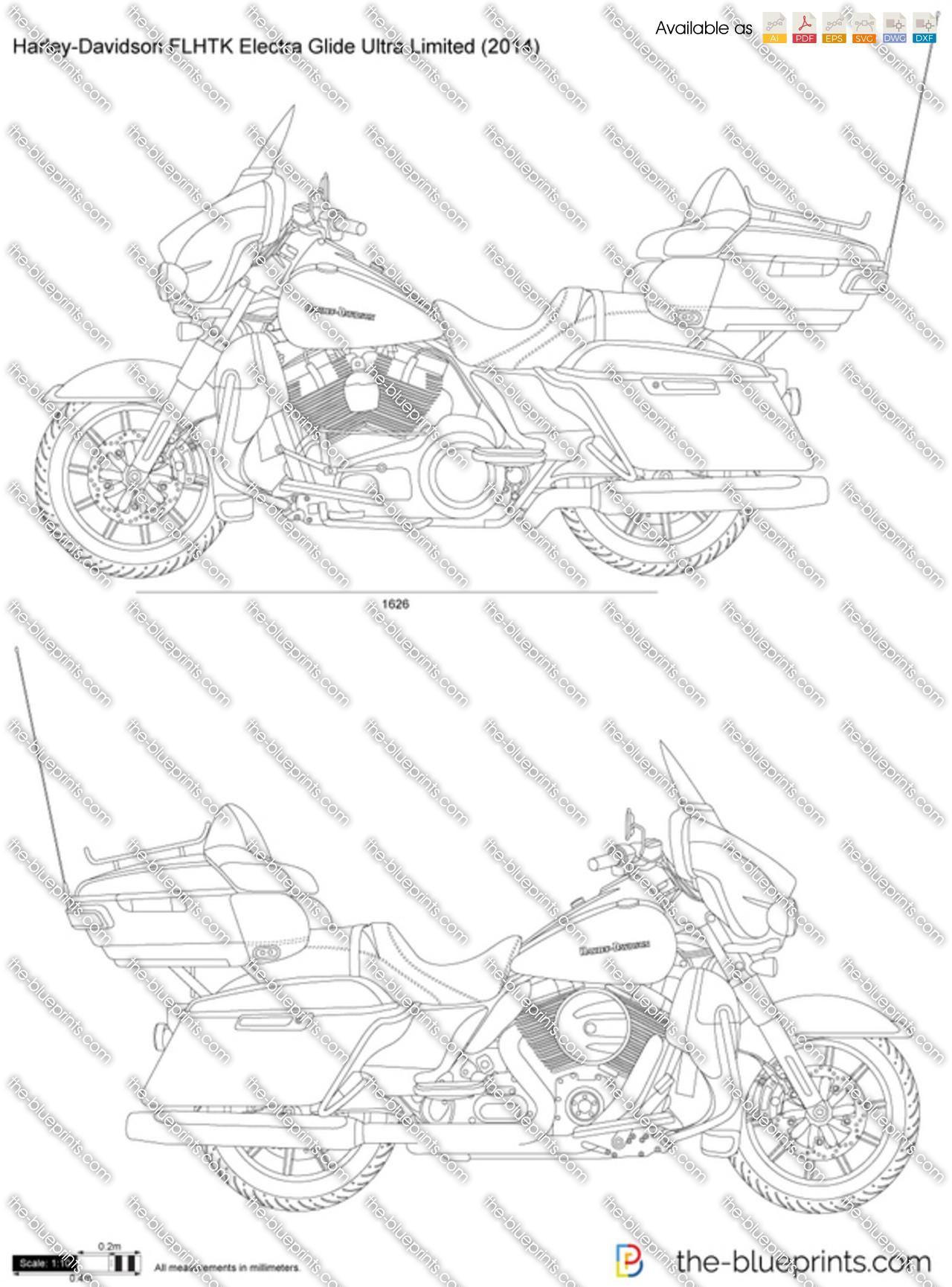 Drawing Of Harley Davidson Electra Glide Harley-Davidson