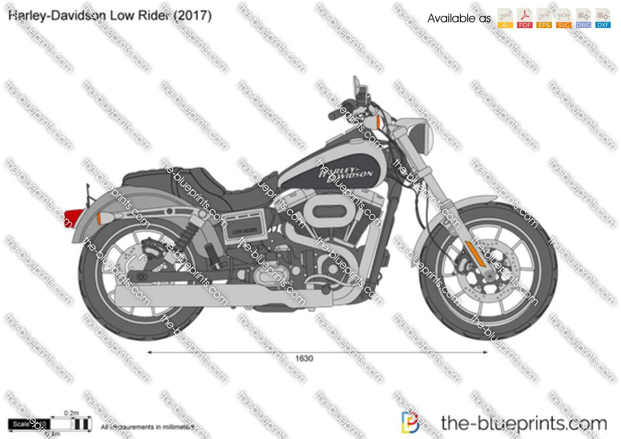 Harley-Davidson Low Rider vector drawing