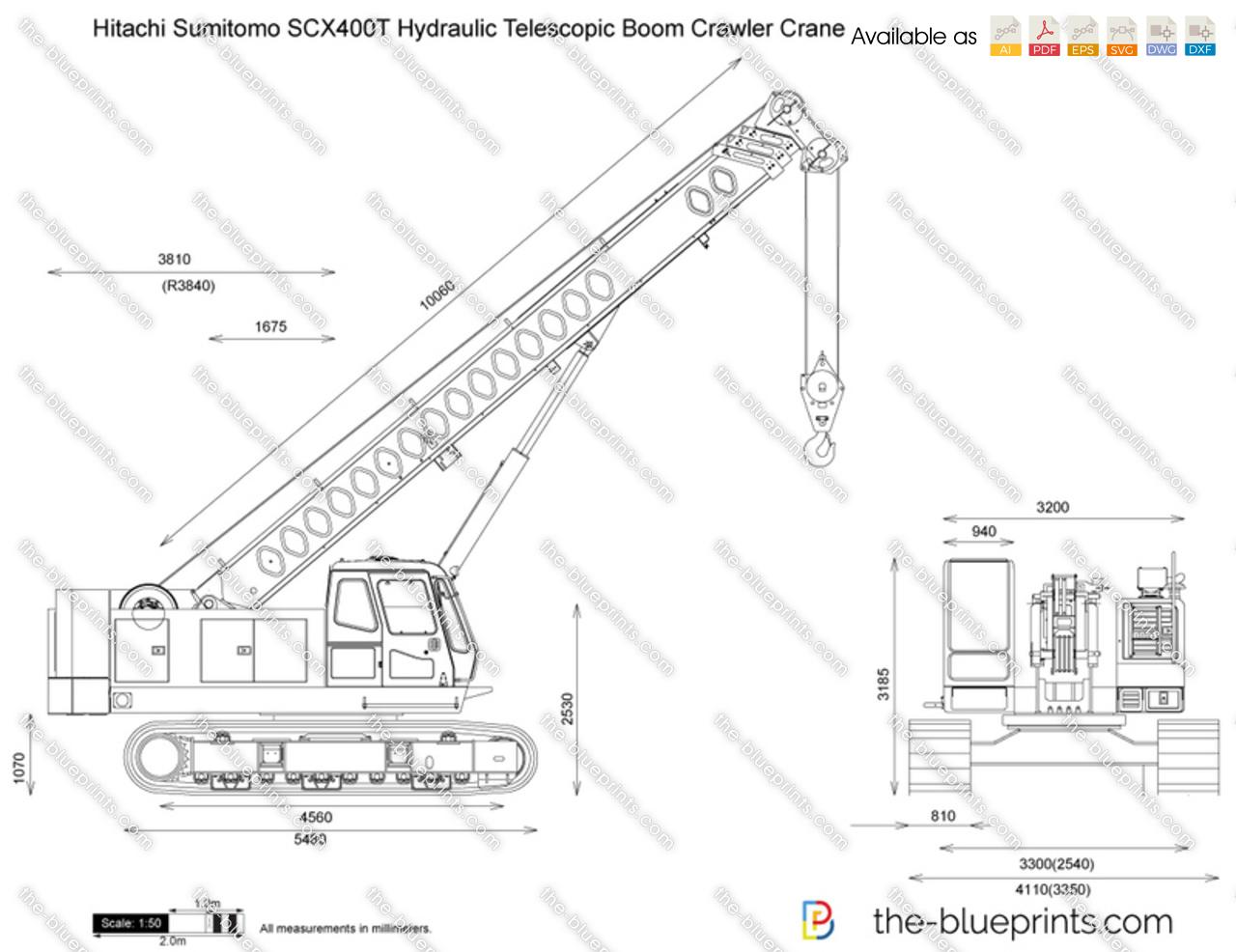 Hitachi Sumitomo Scx400t Hydraulic Telescopic Boom Crawler