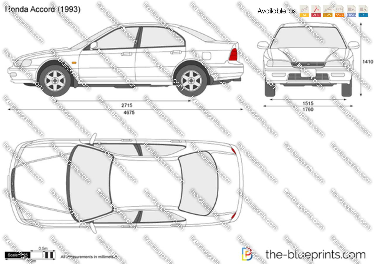 Honda Accord Vector Drawing