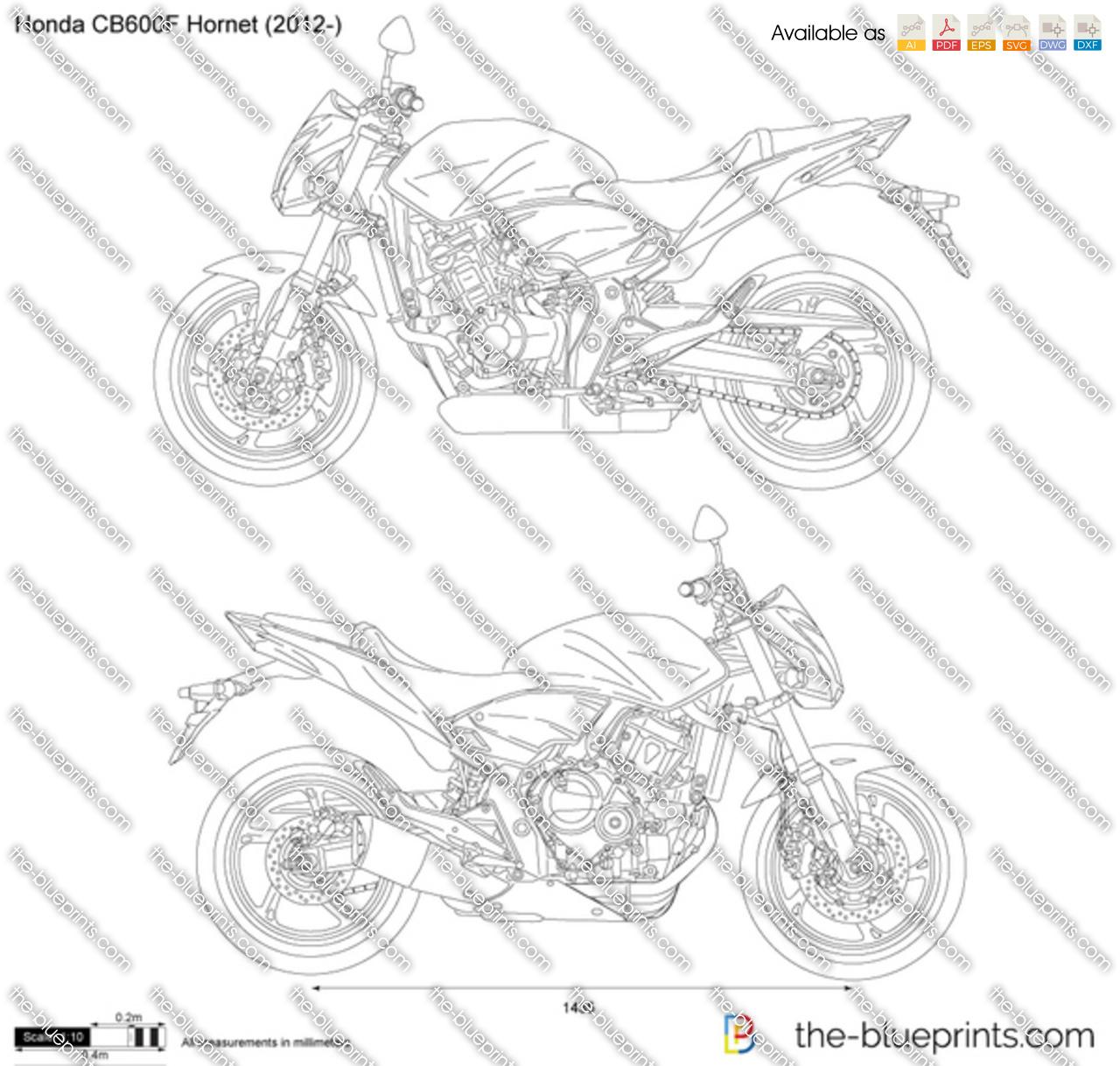yamaha xj6 vector drawing