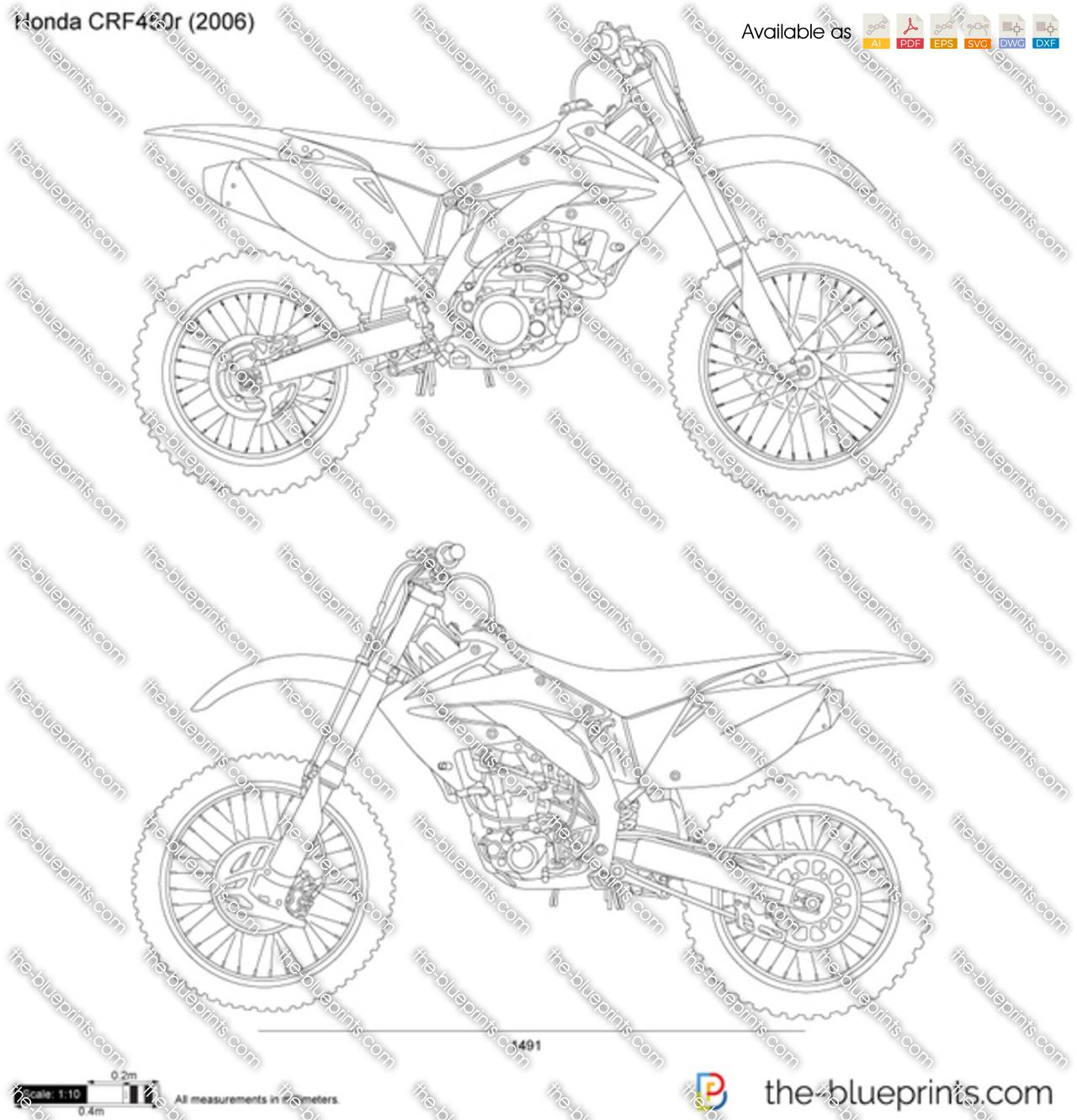 Honda CRF450r vector drawing