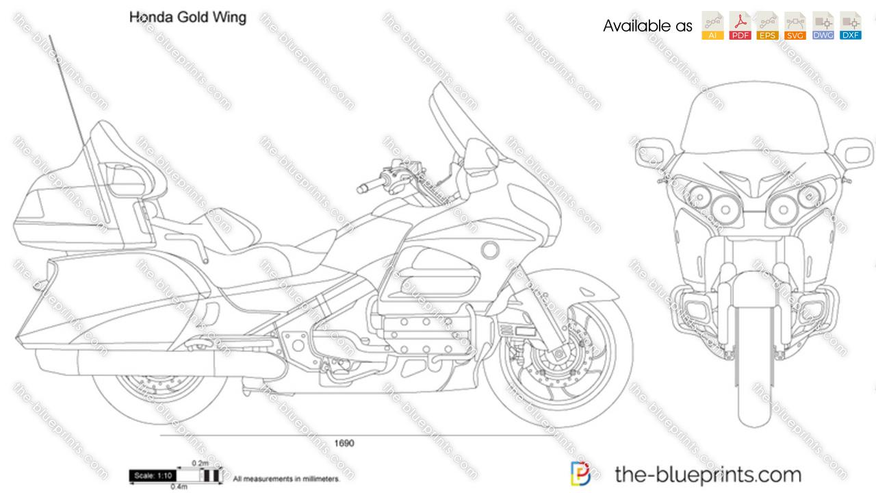 Honda Gold Wing vector drawing