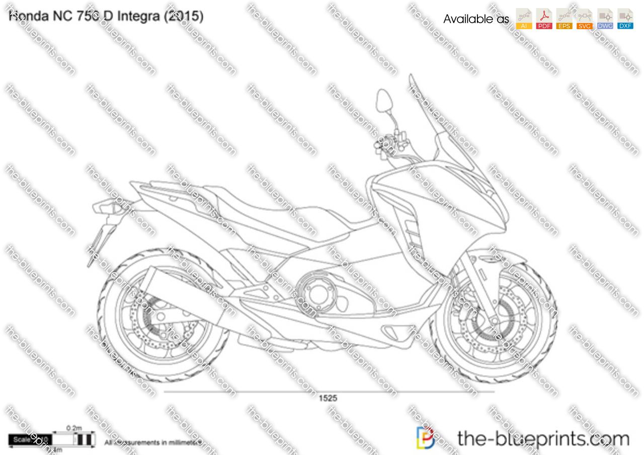 Honda NC 750 D Integra vector drawing