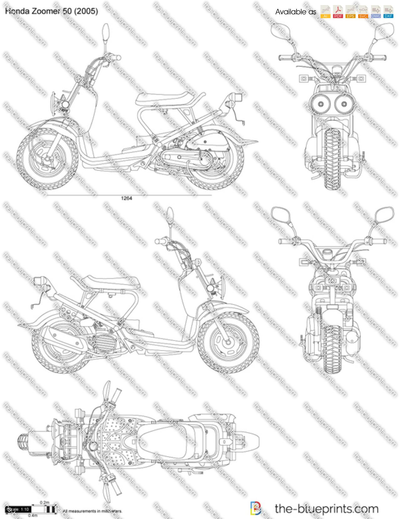 Honda Zoomer Vector Drawing