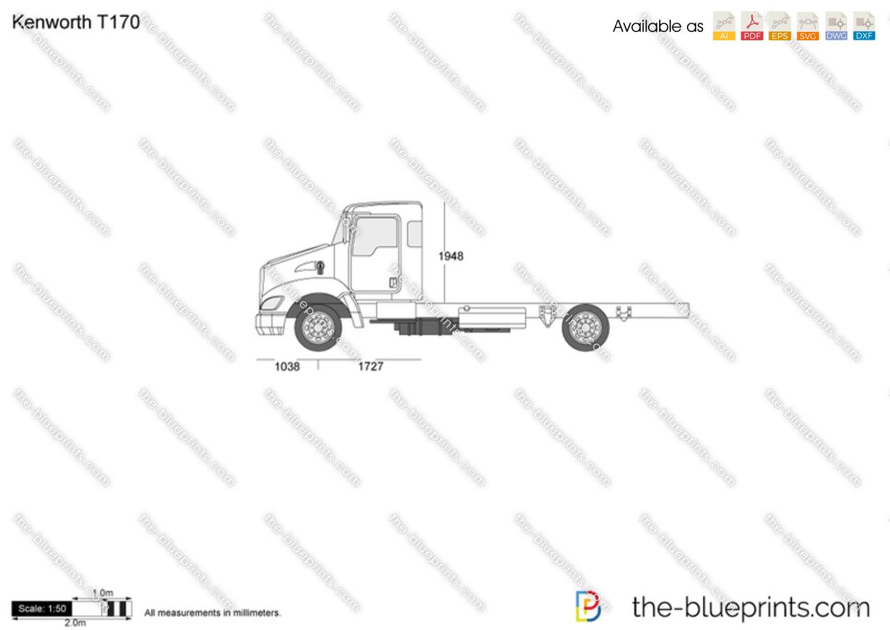 Kenworth T170 vector drawing
