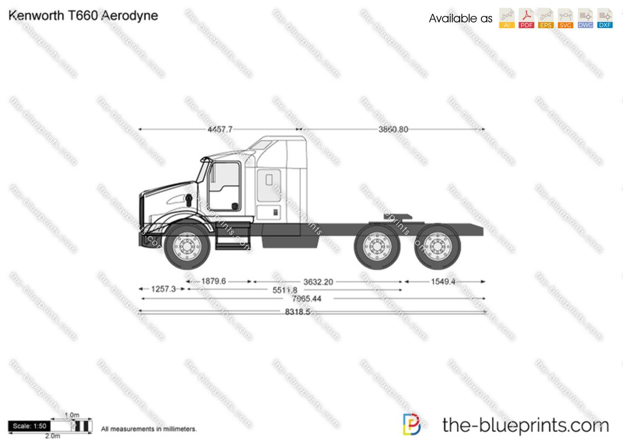 Kenworth T660 Aerodyne vector drawing