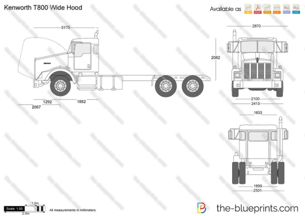 medium resolution of kenworth truck dimension