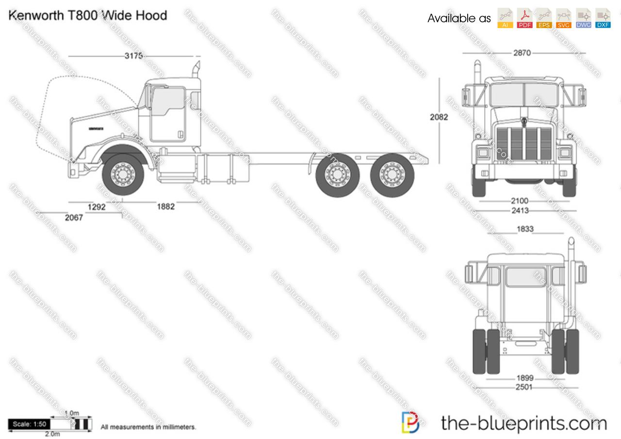 hight resolution of kenworth truck dimension