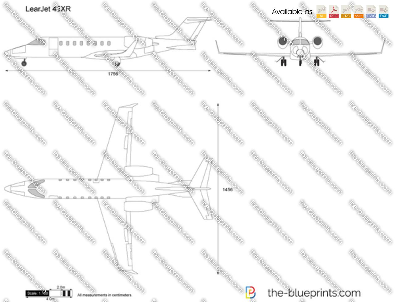 LearJet 45XR vector drawing