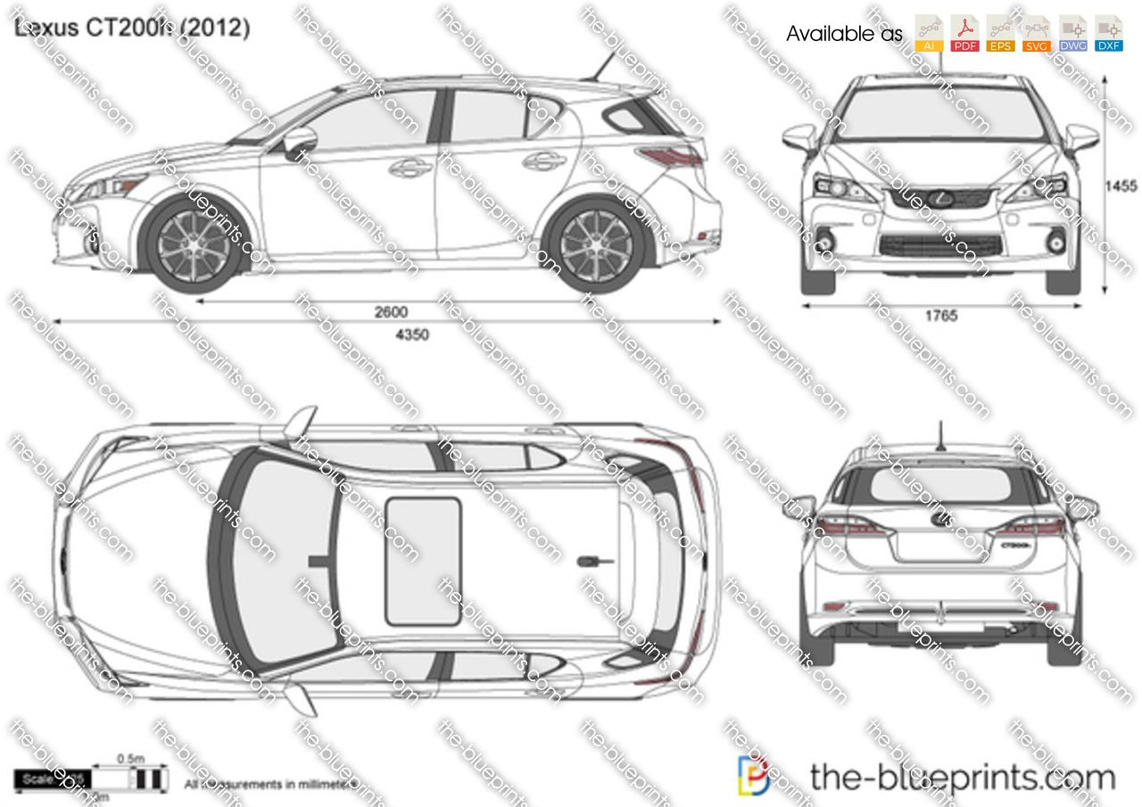 Lexus CT 200h vector drawing