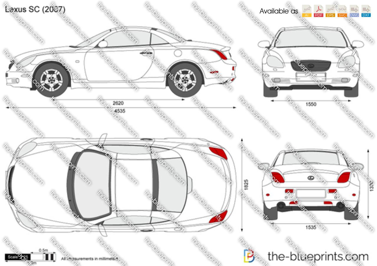 Lexus Sc Vector Drawing