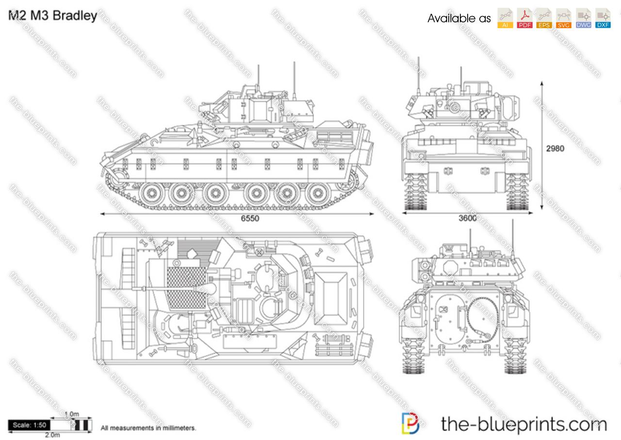 M2 M3 Bradley Vector Drawing