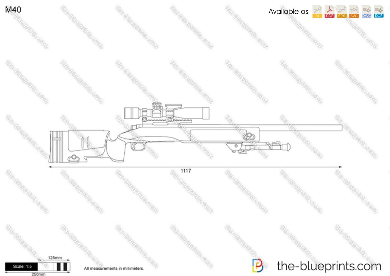 M40 vector drawing