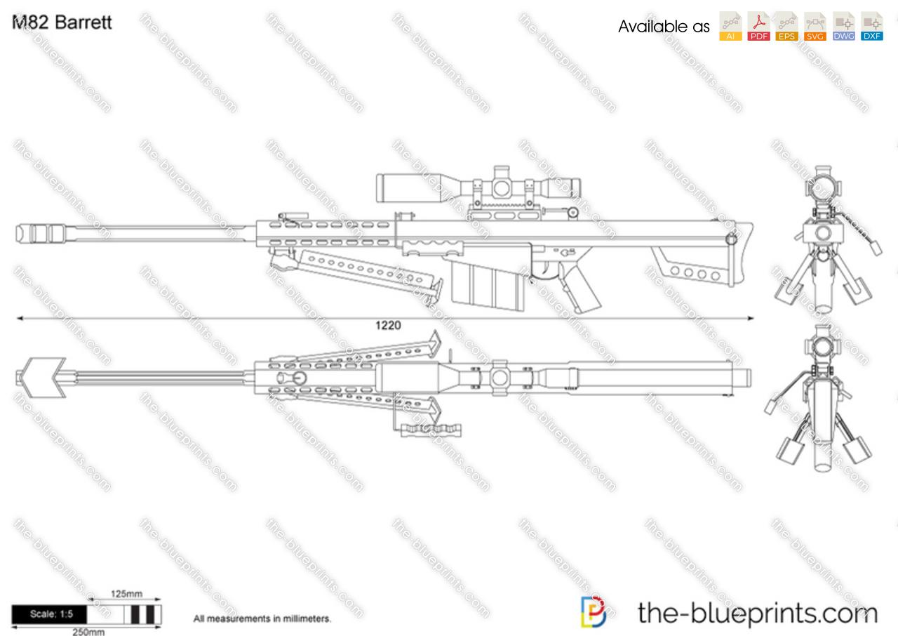 M82 Barrett Vector Drawing