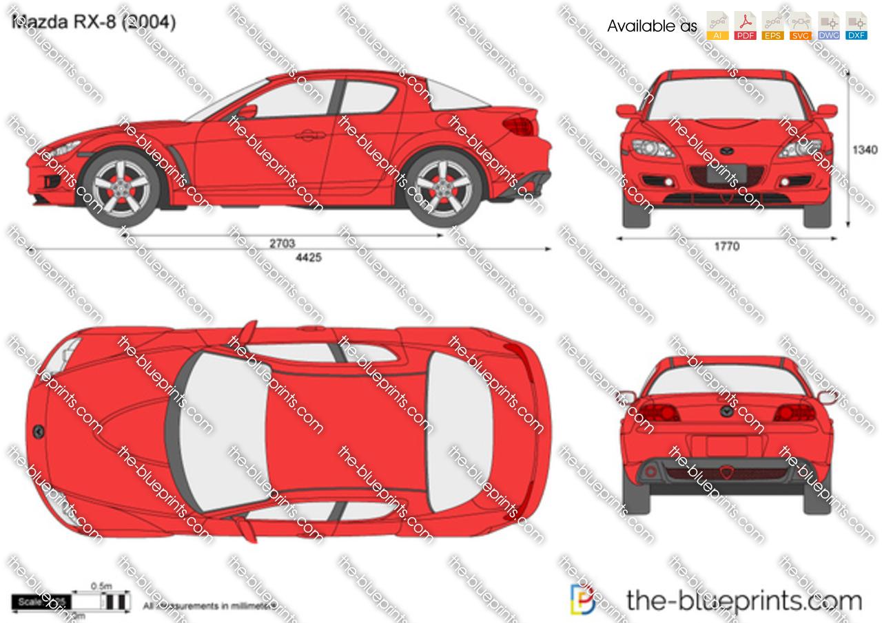 Mazda RX-8 vector drawing