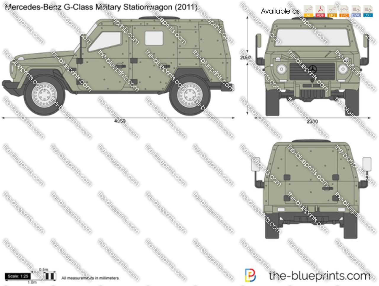 Mercedes-Benz G-Class Military Stationwagon W461 vector