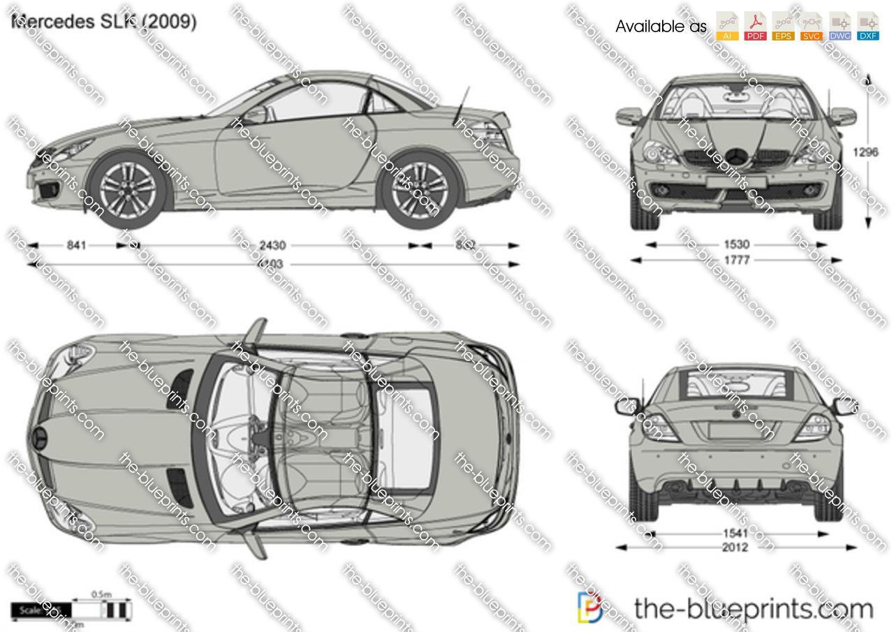 Mercedes-Benz SLK R171 vector drawing