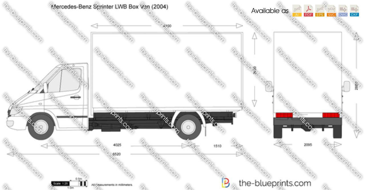 Mercedes-Benz Sprinter LWB Box Van vector drawing