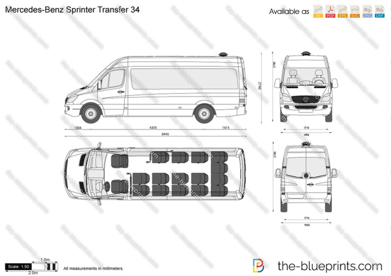Mercedes-Benz Sprinter Transfer 34 vector drawing