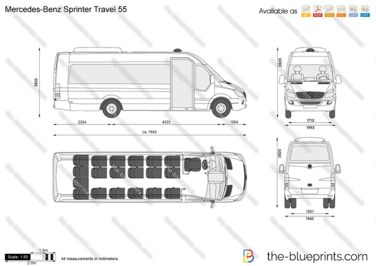 Mercedes-Benz Sprinter Travel 55 vector drawing