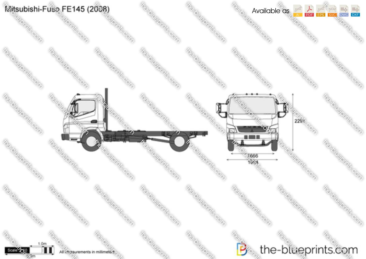 Mitsubishi-Fuso FE145 vector drawing