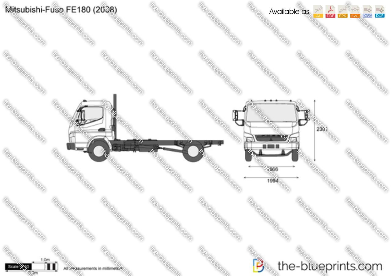 Mitsubishi-Fuso FE180 vector drawing