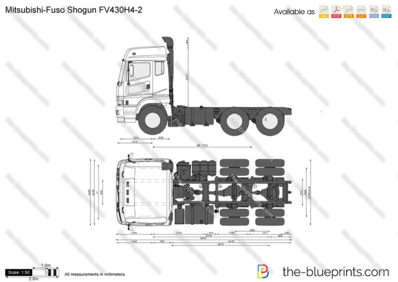 Mitsubishi Fuso Shogun Fv430h4 2 Vector Drawing
