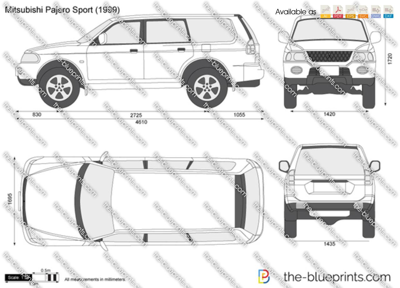 Mitsubishi Pajero Sport vector drawing