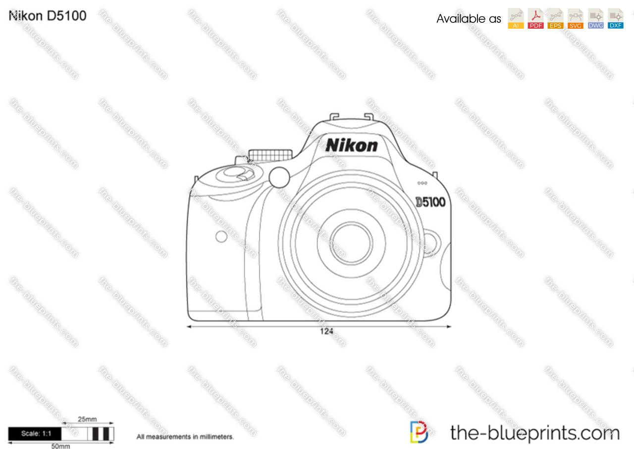 Nikon D5100 vector drawing