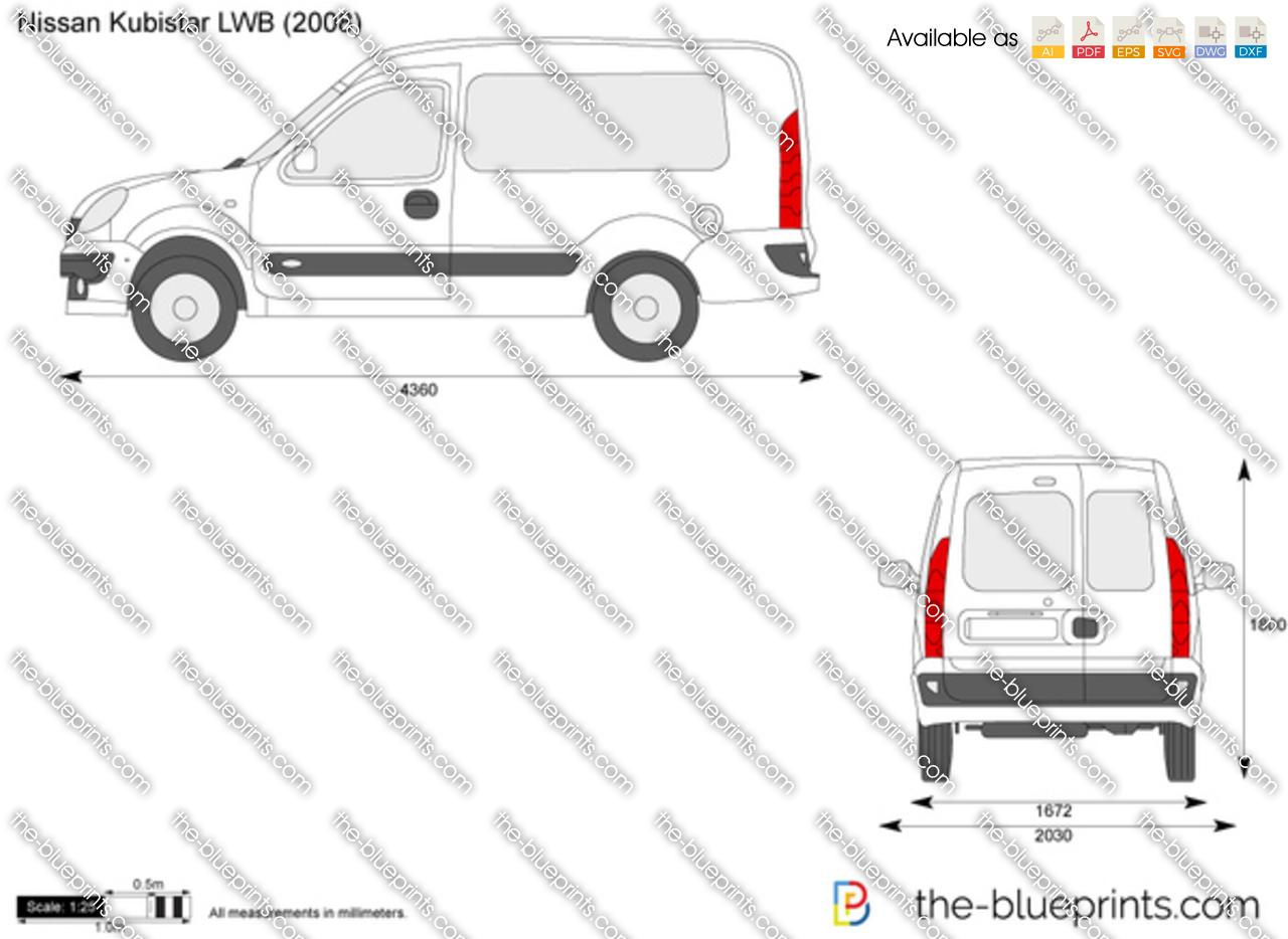 Nissan Kubistar LWB vector drawing