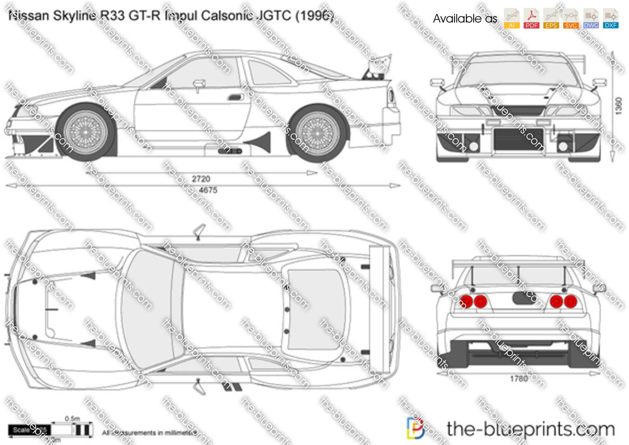 Nissan skyline r33 blueprint
