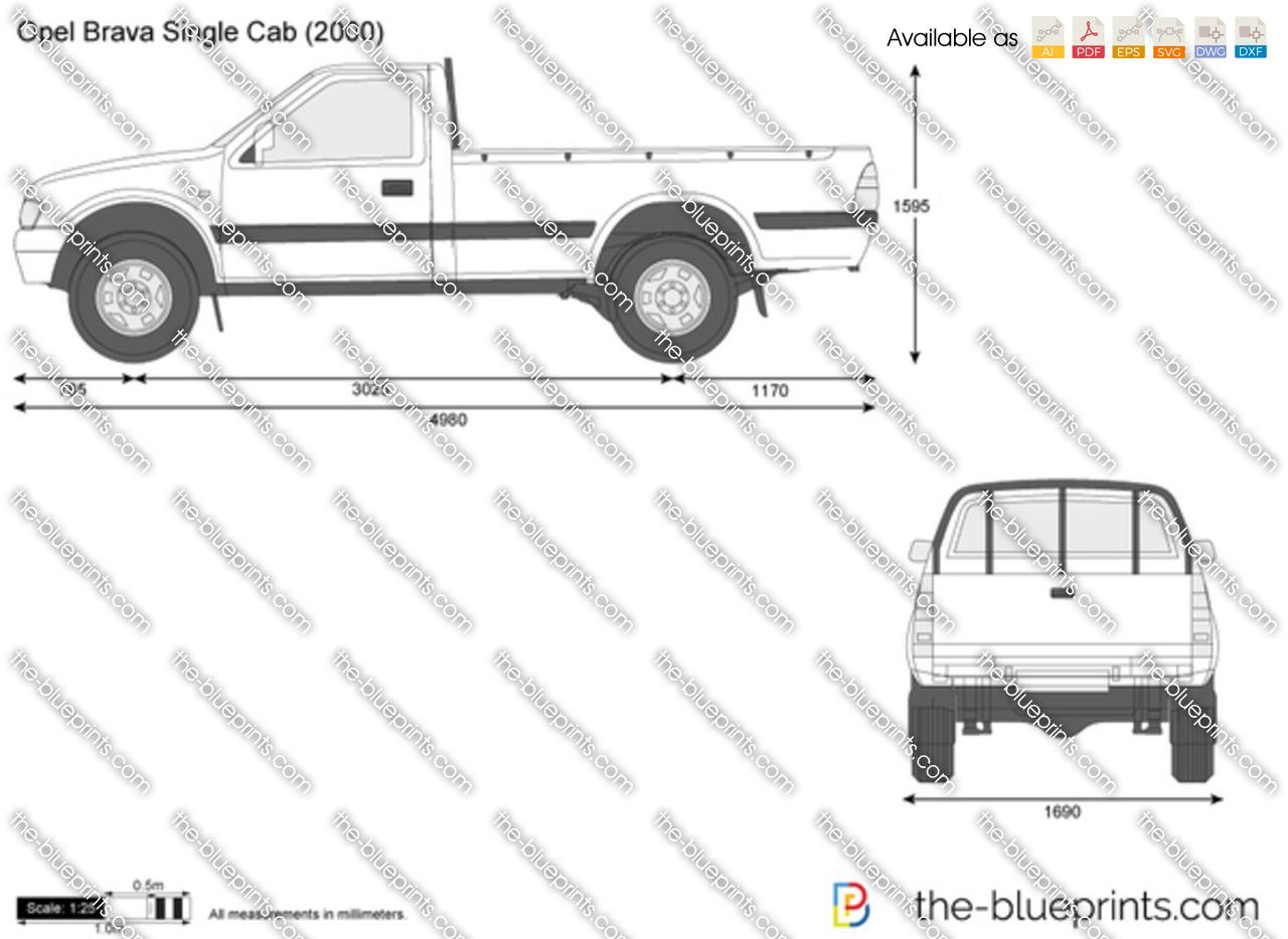 Opel Brava Single Cab vector drawing