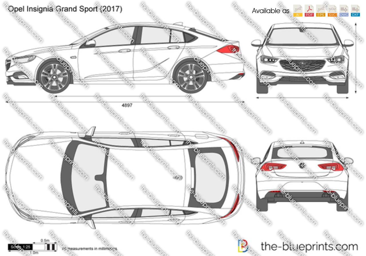 Opel Insignia Grand Sport vector drawing