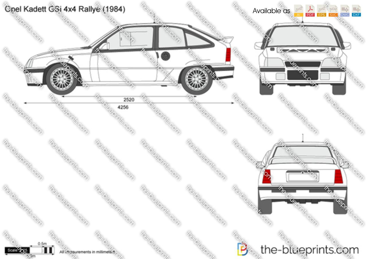 Opel Kadett GSi 4x4 Rallye vector drawing