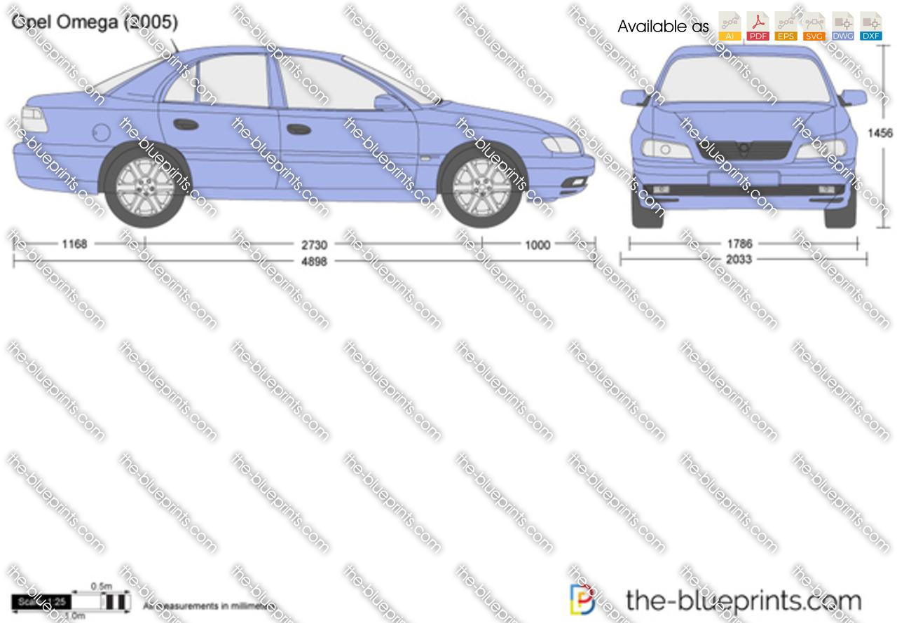 Opel Omega vector drawing