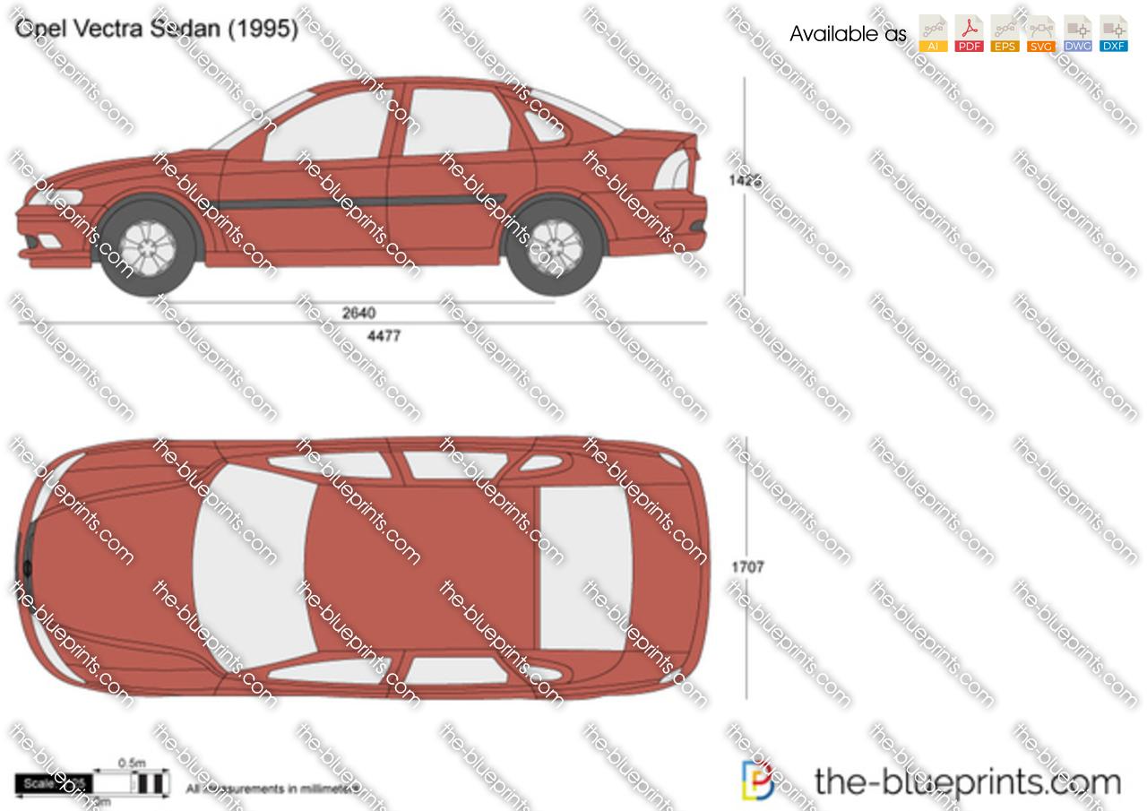 Opel Vectra Sedan vector drawing