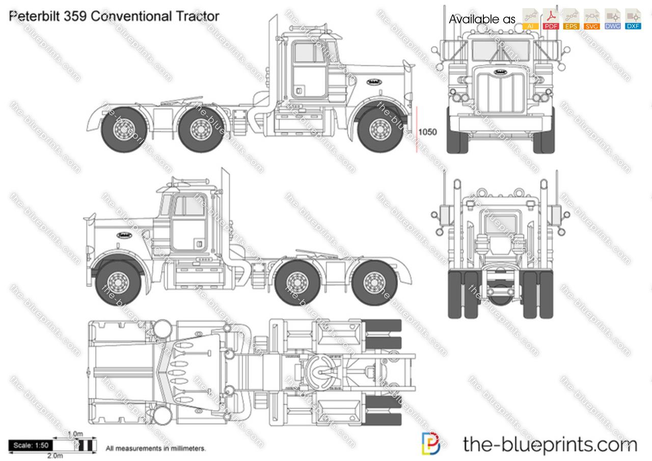1984 peterbilt 359 wiring diagram 7 pin trailer chevy autos post