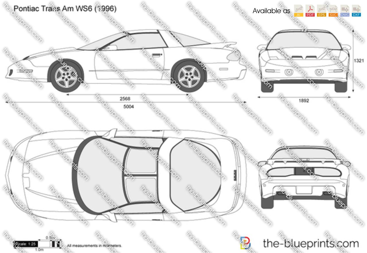 Pontiac Trans Am Ws6 Vector Drawing