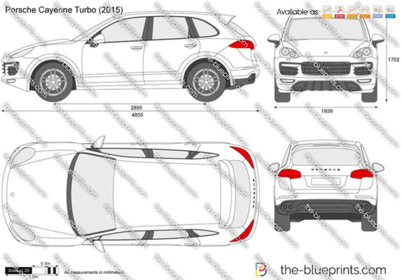 Porsche Cayenne Turbo Vector Drawing