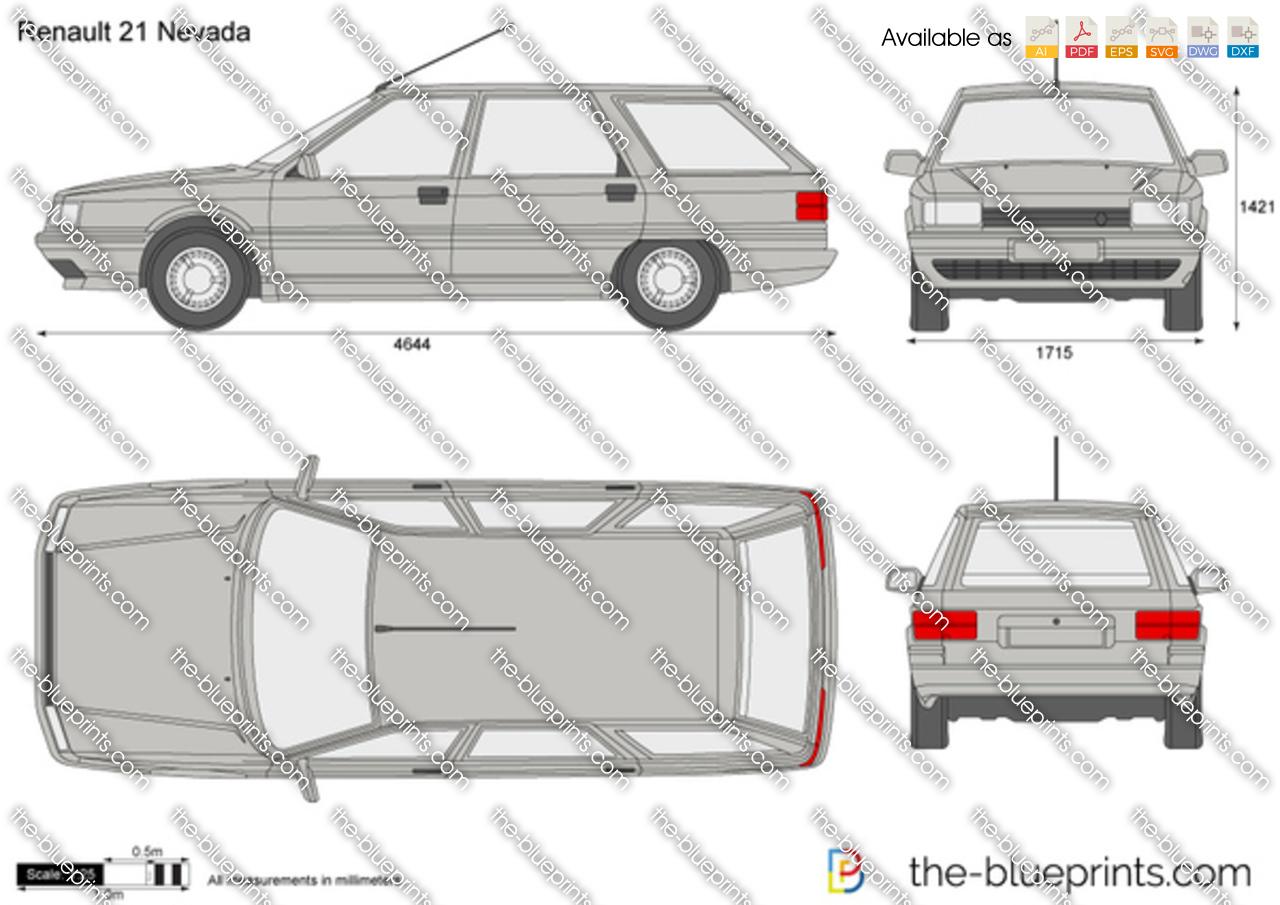 Renault 21 Nevada vector drawing